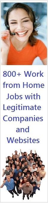 800+ Work From Home Jobs with Legitimate Companies and Websites