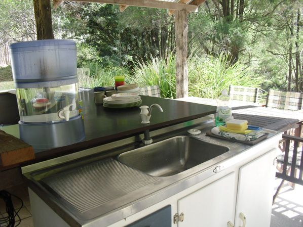 More glamping here..check out our kitchen!