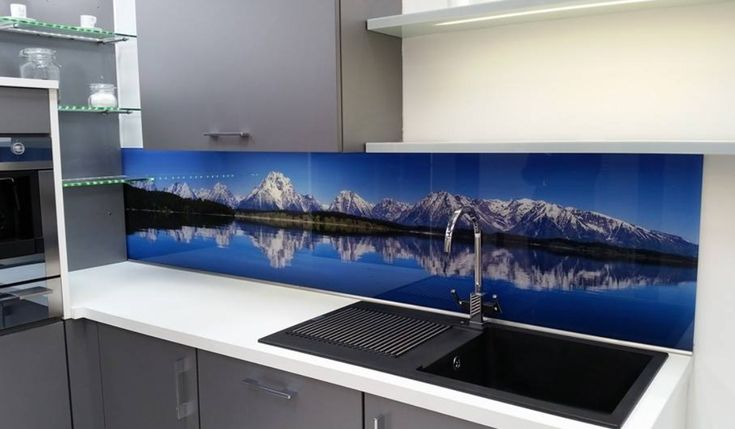 Rocky Mountain high? We love this vista print glass splashback. Any image, any size Emberglass.com