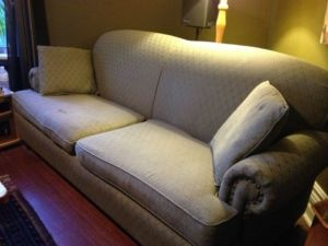 Large Soft Green Fabric Couch