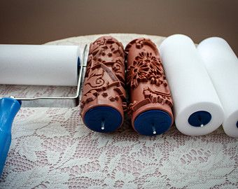 Rosy / Patterned Paint Roller by Rolling Robin by RollingRobin