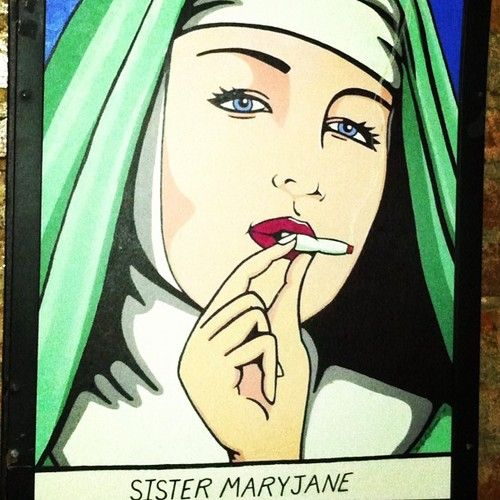 Hail to the sister Mary Jane! #joint #cannabis #art
