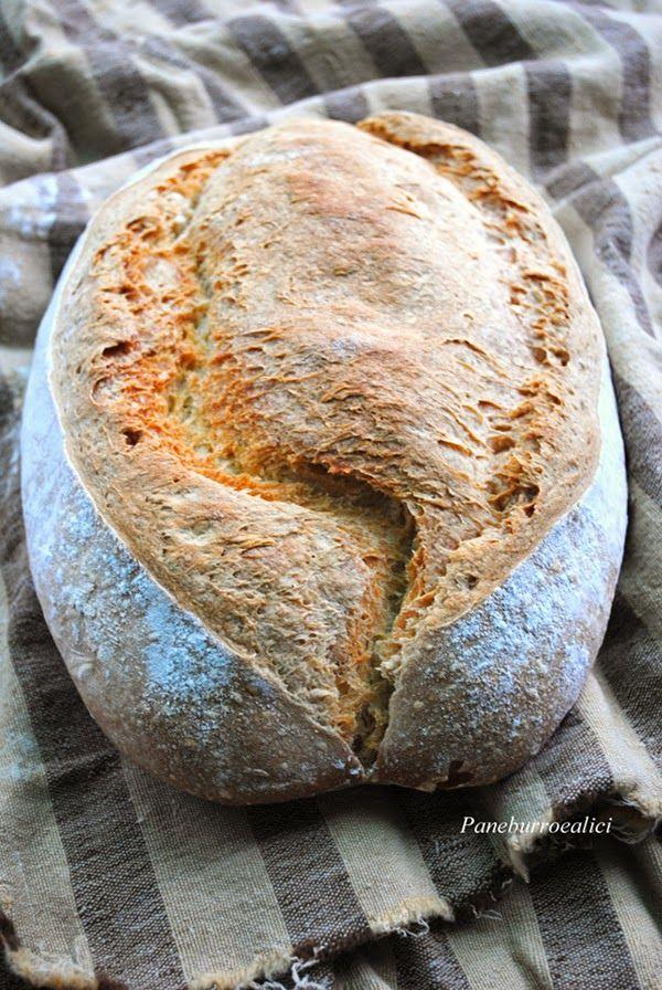 Pane, burro e alici: Pane leggerissimo alla semola con prefermento
