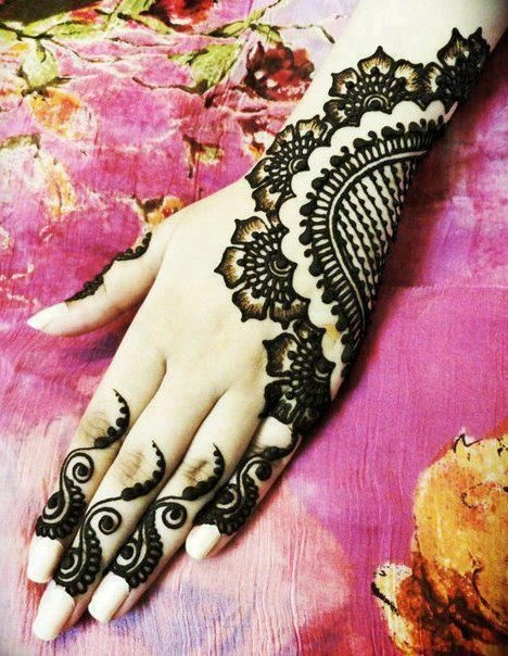 bridal hand mehedi design