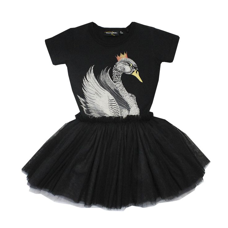Rock Your Kid S16 Swan Dress - Black Limited Edition (PRE ORDER) – My Messy Room