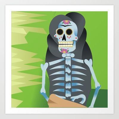 Frida's Spine Art Print