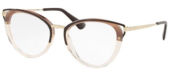 5045e1f7c8 Prada PRADA WANDERER EVOLUTION PR 53UV STRIPED BROWN Prada Eyeglasses
