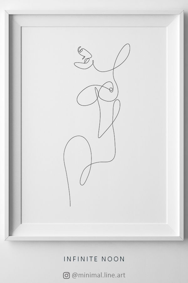 One-Line Woman Figure, Abstract Continuous Line, Feminine Line Art, Minimalist Nude Print, Body Sketch, Fine Line Profile, Minimal Poster – Annamustermann