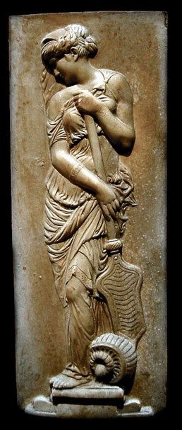 Muse Plaque - from Attica region, Ancient Greek, circa 5th-4th century B.C.
