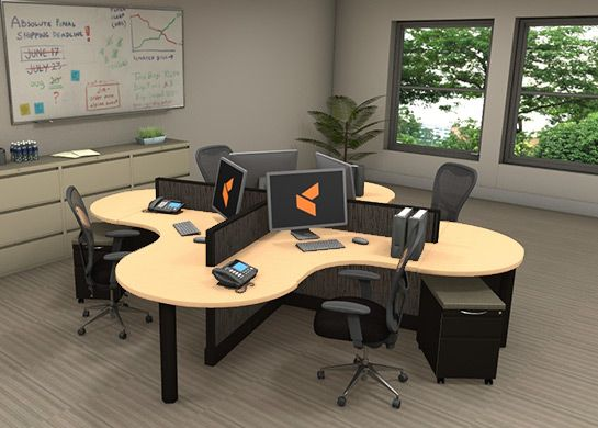 Office workstations optima 5 the latest corporate Open office furniture