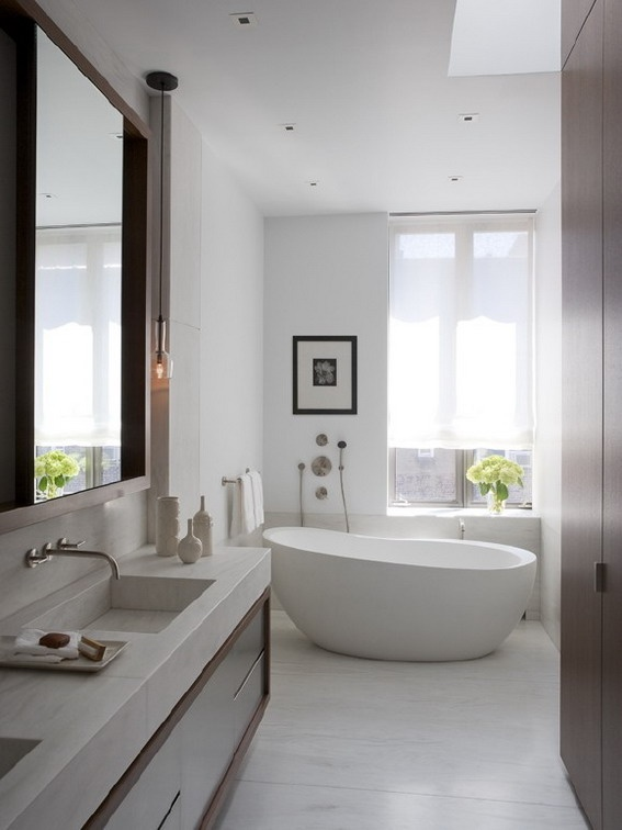 Upper East Side Carriage House Contemporary Bathroom New York David Howell Design