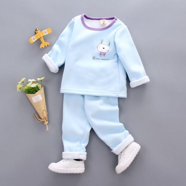 28d8ba1acef0 girls pajamas Set Cotton Children Pijama Suit Warm Underwear Thermal ...