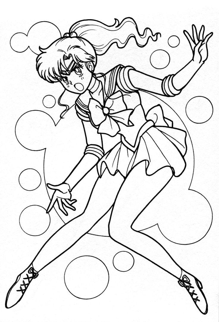 Sa sailor moon coloring games online - Sailor Jupiter Coloring Page