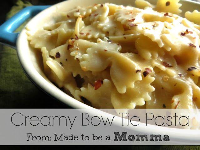 Creamy Bow Tie Pasta Receptions Creamy Chicken And Bow Ties
