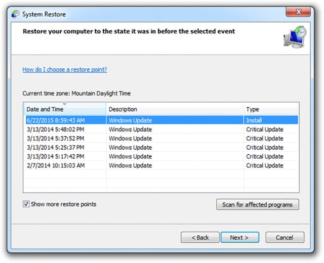 How to Use System Restore in Windows 7