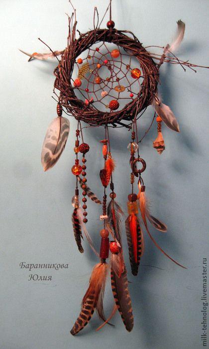 """Ловец снов """"Дом Солнца"""" - рыжий,ловец снов,dreamcatcher,ловушка для снов"""