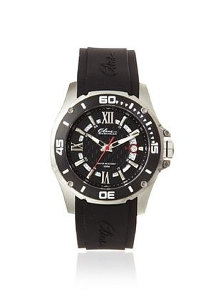 Elini Barokas Men's 10196-01-BB Artisan Black/Black Silicone Watch