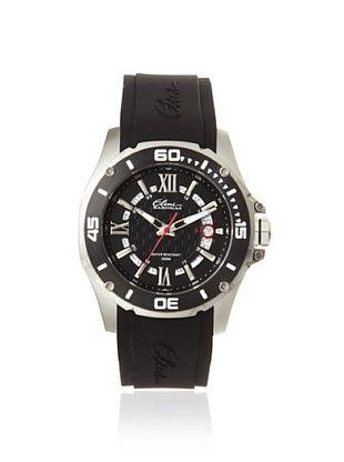 80% OFF Elini Barokas Men's 10196-01-BB Artisan Black/Black Silicone Watch