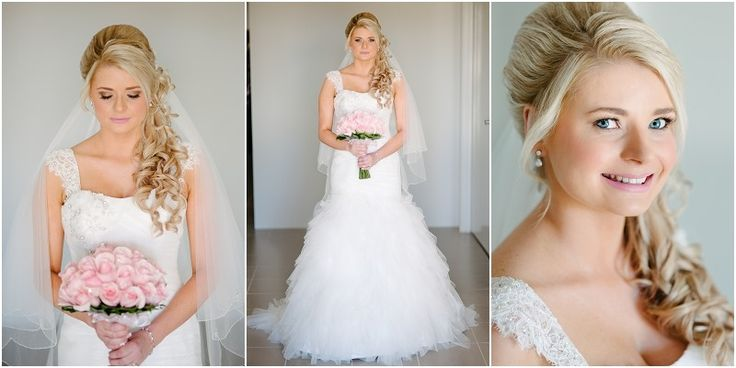 Soft and romantic side curl look for a beautiful Bride by Total Brides hair & makeup