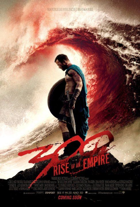 300: Rise of an Empire, directed by Noam Murro. Not a waste of time but see 300 by Zack Snyder first.