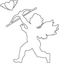 Cupid Valentine Coloring Page
