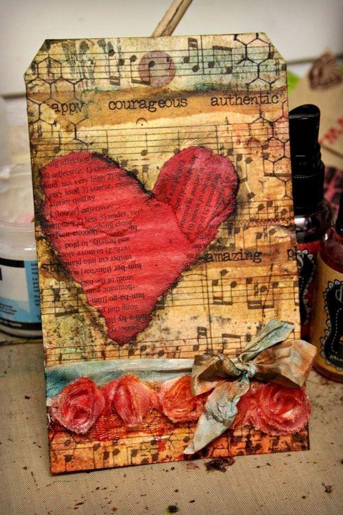 Shabby Heart Tag...