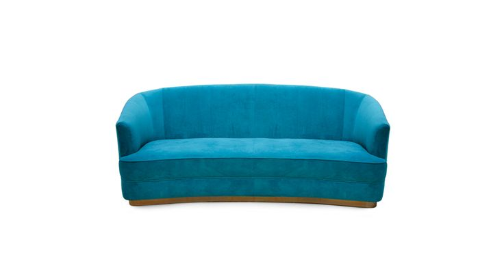 SAARI | Velvet Sofa Modern Contemporary Furniture by BRABBU