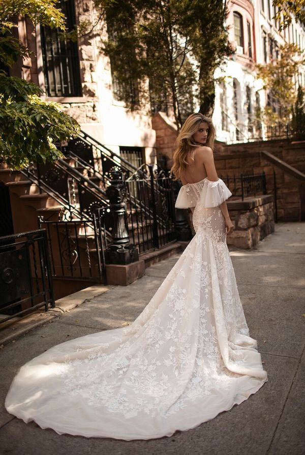 luxury wedding dress cold shoulder berta bridal fall 2017
