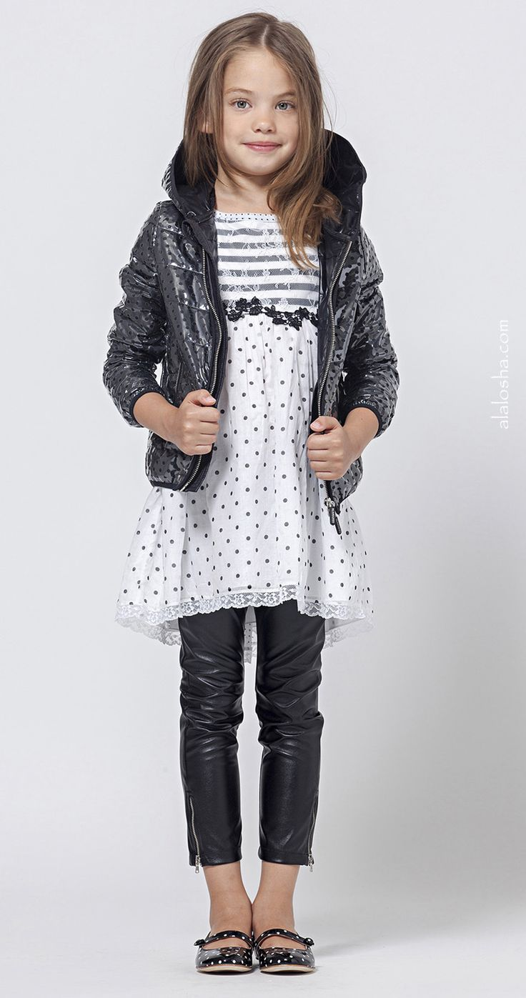 ALALOSHA: VOGUE ENFANTS: Stunner!! The Ermanno Scervino's Juniors look breathtaking in black leather
