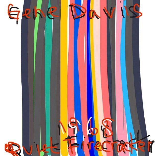 Quiet Firecracker, Gene Davis, 1968 @Tate -- Learn more: https://www.tate.org.uk/art/artworks/davis-quiet-firecracker-t01116