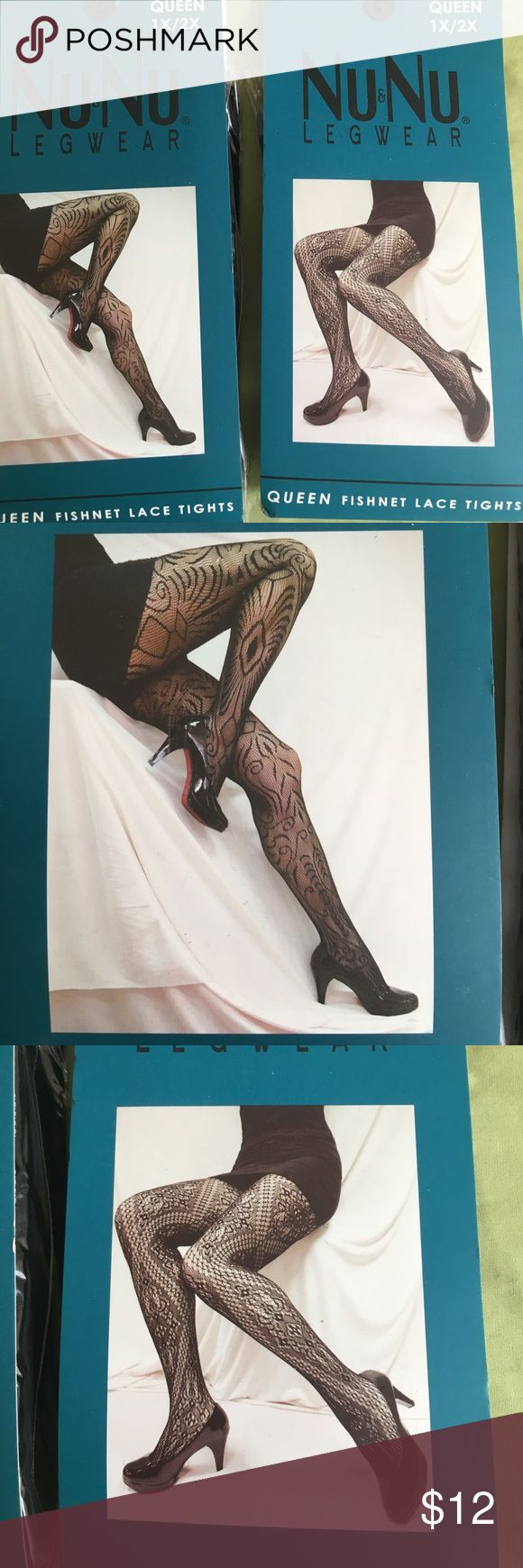 Two pairs queen plus fishnet tights So cute under workday or going out apparel. Stretchy. Accessories Hosiery & Socks