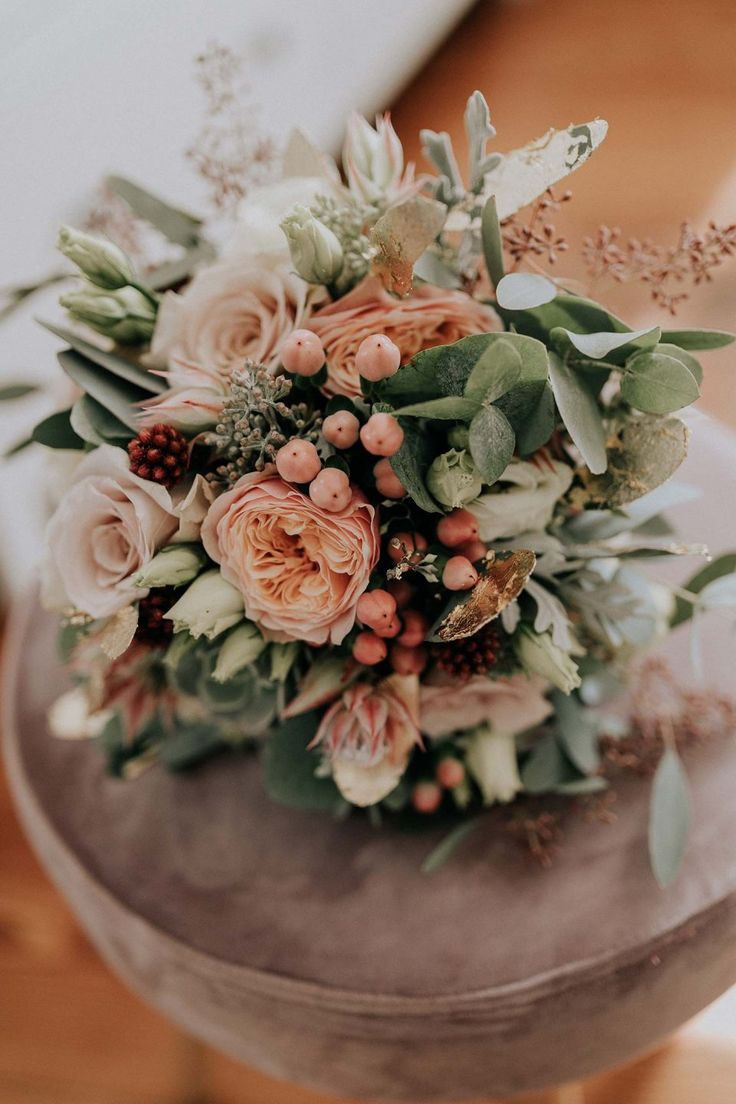 Brautstrauß – Boho Hochzeit, moderne Hochzeit im bohemian Stil