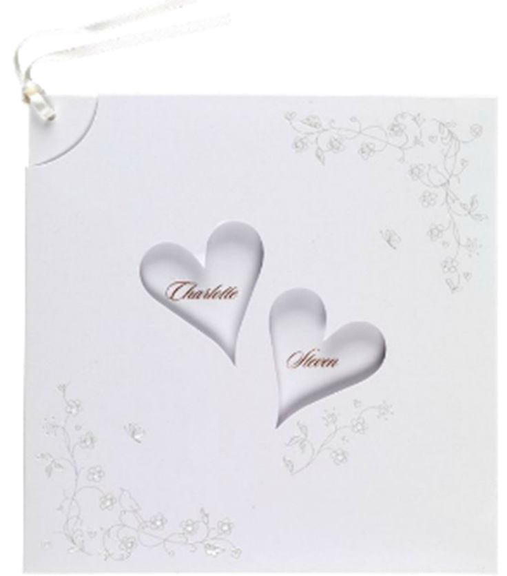 Pull-out invitation card  http://www.brideandgroomdirect.co.uk/product/love-is-invitation#colour=19