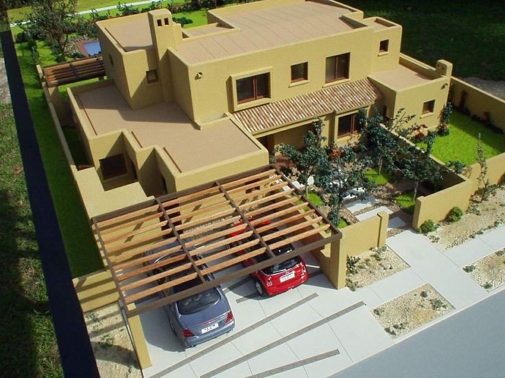 Maqueta casa en Hacienda Chicureo - Chile . Escala 1:50