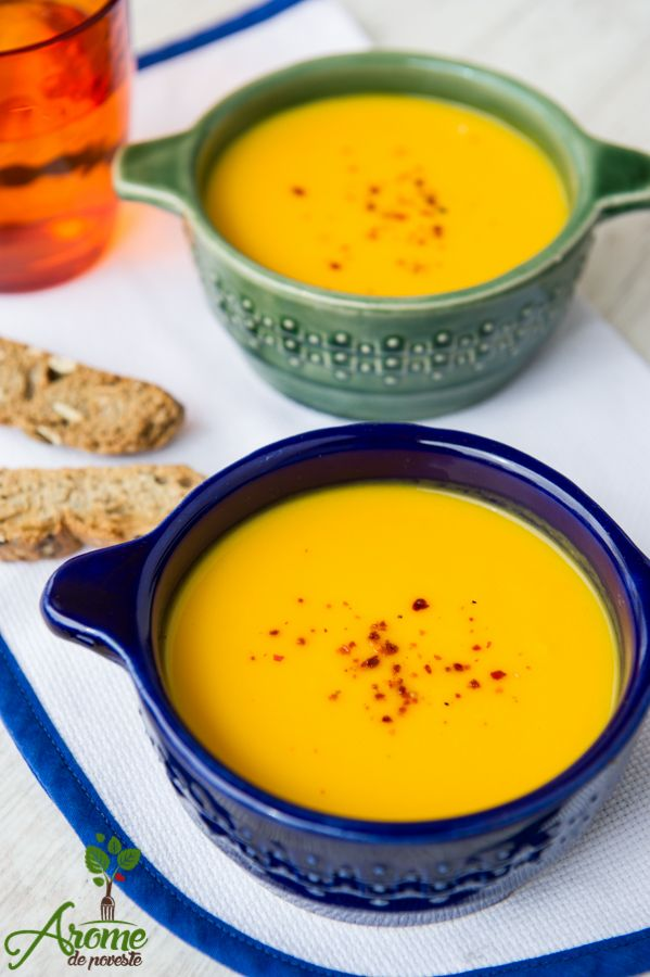 Supa crema morcovi cu ghimbir - Arome de poveste