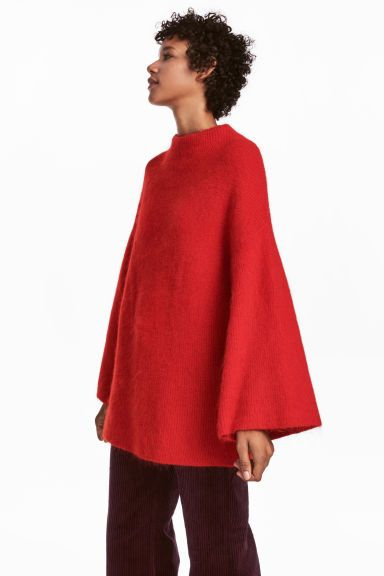 Mohair-blend jumper - Red - Ladies | H&M GB 1