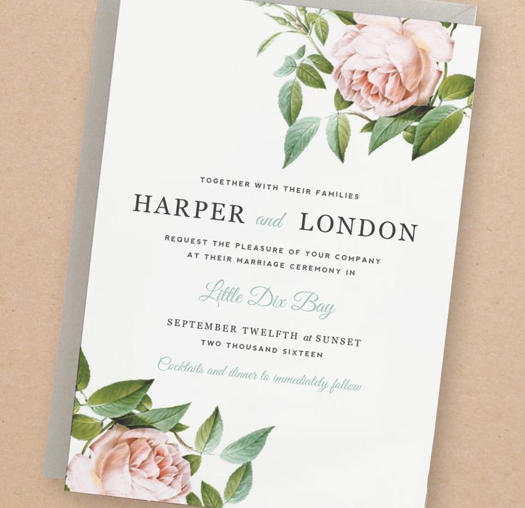 Printable Wedding Invitation Template | INSTANT DOWNLOAD ...
