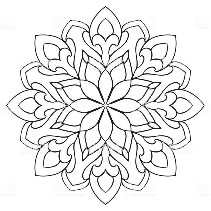 Vektor Einfaches Mandala Mit Abstrakten Elementen Isoliert Auf Weiss Mandala Abstrakten Auf E Einfaches Mandala Mandala Design Mandala Muster