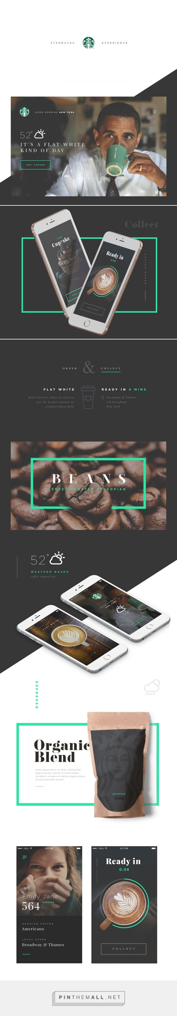 Starbucks Experience on Behance... - a grouped images picture - Pin Them All