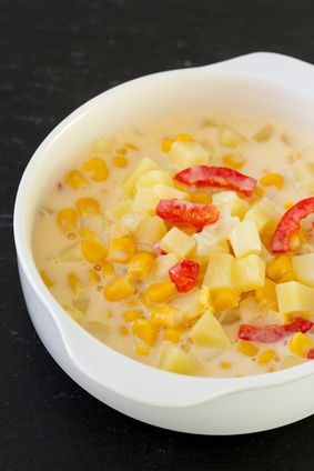 This is a hearty soup made with potatoes, corn, and red peppers. You will absolutely love the taste from the first to the last bite.