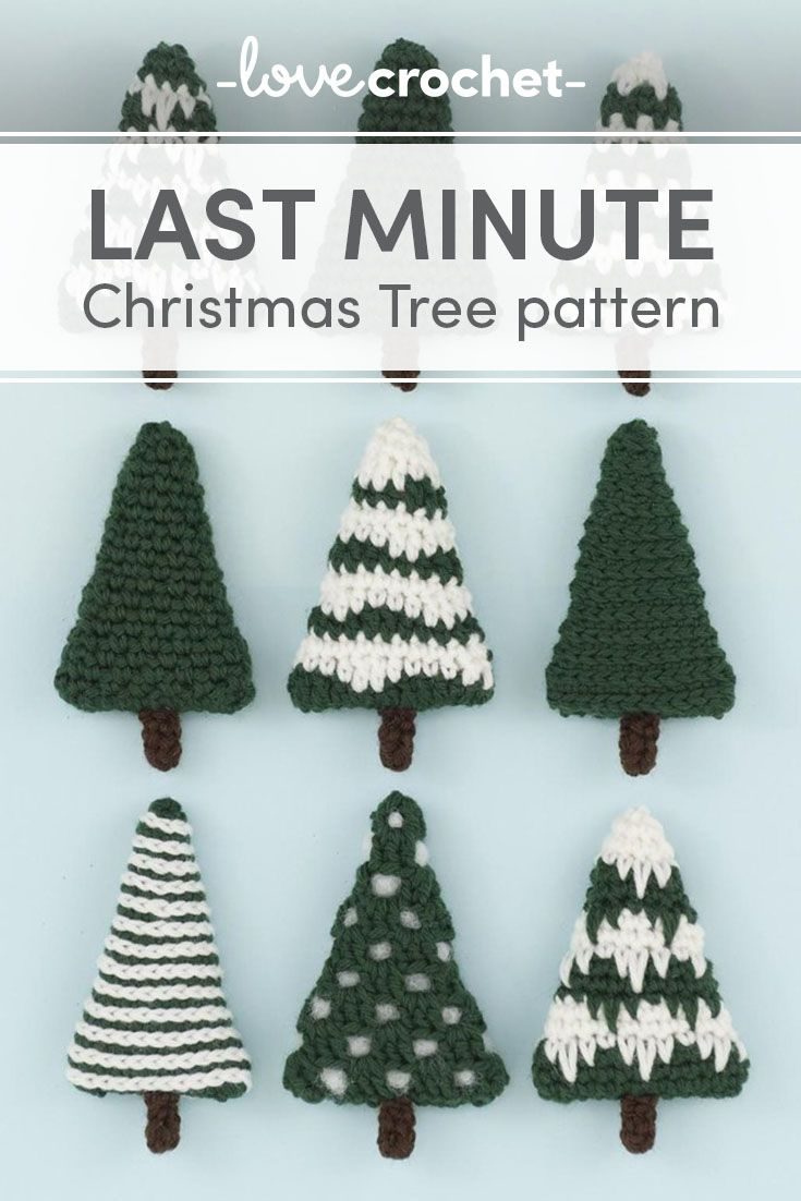 Nine different Christmas trees which can be left as they are or decorated.  They are