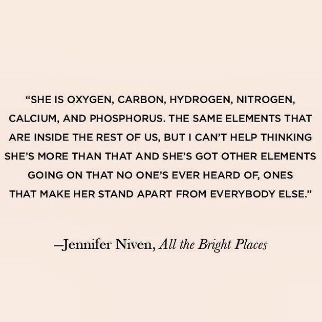 Jennifer Niven, All the Bright Places