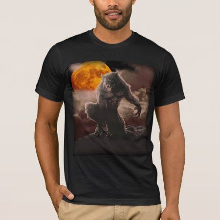Werewolf Blood Moon T-Shirt - click/tap to personalize and buy