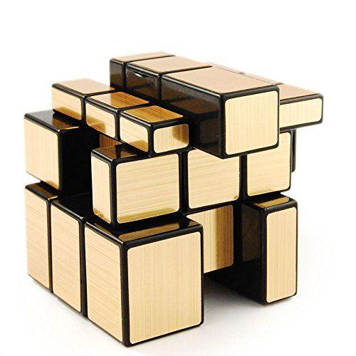 5.Shengshou Golden Mirror 3x3 Speed Cube Magic Puzzle Black Best Sale Toy