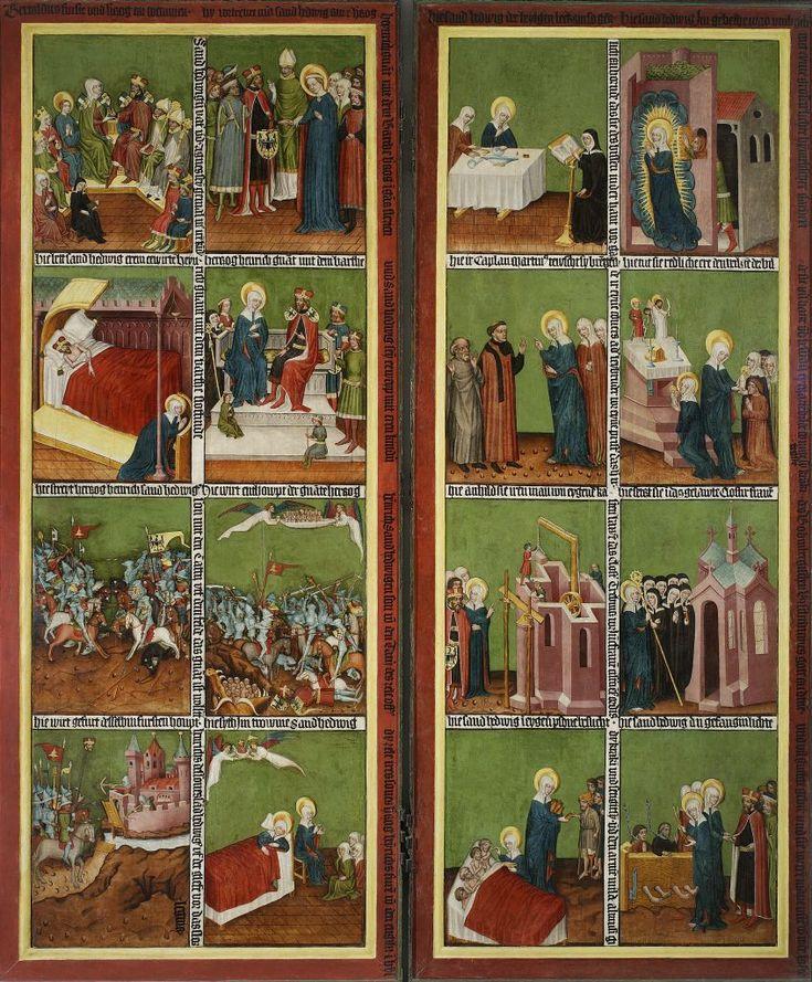"""Mistrz Tryptyku z Wielowsi, """"Legenda św. Jadwigi""""  Altar """"Legend of St. Hedwig"""""""