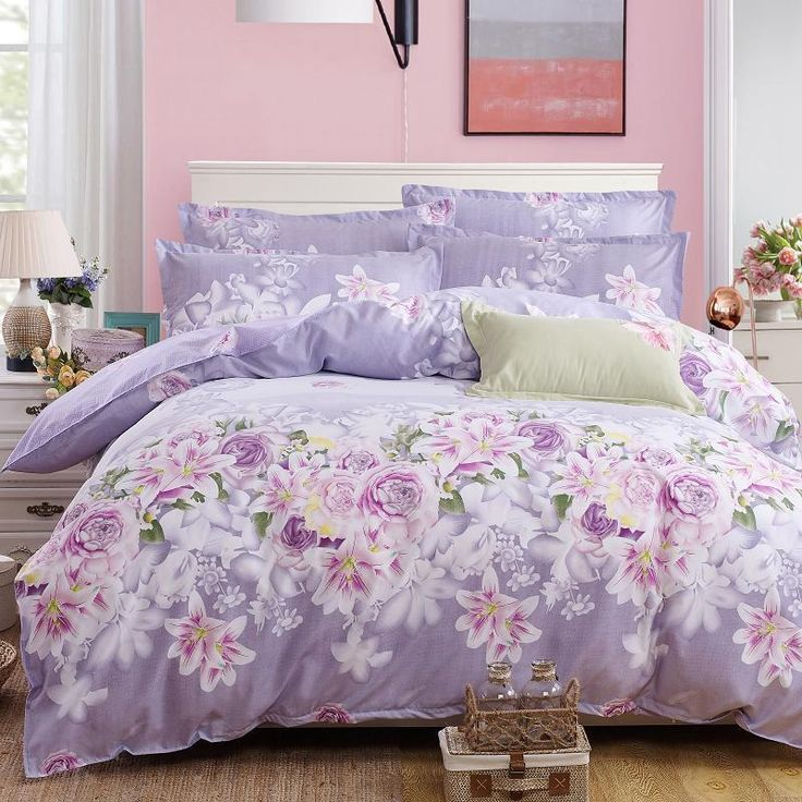 Flowers Printed Lovely Home Cozy Textile Bedding Sets