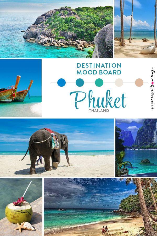 destination mood board phuket thailand love the. Black Bedroom Furniture Sets. Home Design Ideas