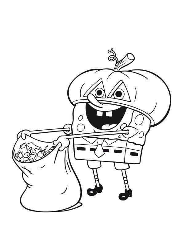 Spongebob Halloween Coloring Pages Halloweencoloringpages Spongebob Hallo Halloween Coloring Pages Printable Halloween Coloring Pages Superhero Coloring Pages