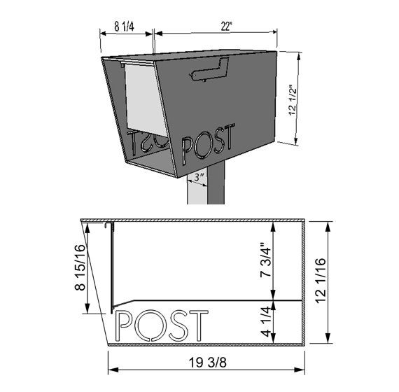 The 25 best custom mailboxes ideas on pinterest for Cool house plans 10393