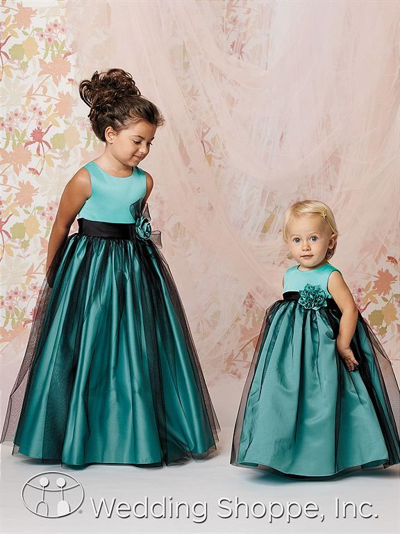 Flower Girl Dresses Jordan L278 Flower Girl Dress... these are adorable! pink with the black overlay??